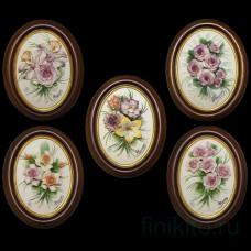 Барельеф с цветами