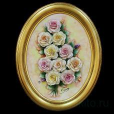 Барельеф с розами