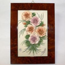 Барельеф с розами ARTIGIANO CAPODIMONTE