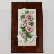 Барельеф с розовыми розами ARTIGIANO CAPODIMONTE