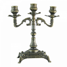 Канделябр Венеция на 3 свечи, под бронзу