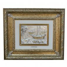 """Картина """"Пальмы и лодки"""""""