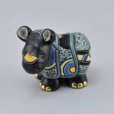 Керамическая статуэтка Детеныш носорога яванского