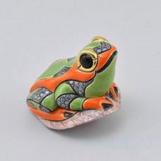 Керамическая статуэтка Лягушка на листе