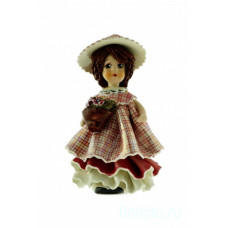 Кукла в розовом с цветами