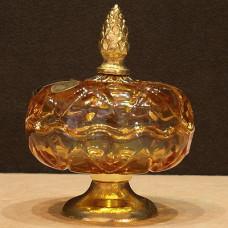 Шкатулка янтарная