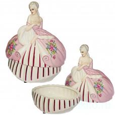 """Статуэтка """"Дама в розовом платье"""" (шкатулка)"""