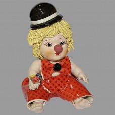"""Статуэтка """"Клоун - мальчик с букетом цветов"""""""