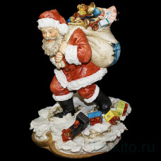 "Статуэтка ""Санта Клаус с мешком подарков"""